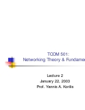 Networking Theory and Fundamentals - Lecture 2