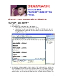 HỌC DREAMWEAVER 8 STATUS BAR PROPERTY INSPECTOR PANEL