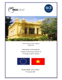 Final Report on Participatory Tourism Value Chain Analysis in Da Nang, Central Vietnam