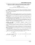 """Báo cáo nghiên cứu khoa học: """" AN APPROACH TO THREE CLASSICAL TESTS OF THE GENERAL THEORY OF RELATIVITY IN THE VECTOR MODEL FOR GRAVITATIONAL FIELD"""""""
