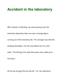 Accident in the laboratory