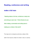 conference and writingmake a full man