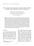 """Báo cáo nghiên cứu khoa học: """"How to foster learner autonomy in country studies at Faculty of English - Hanoi National University of Education?"""""""