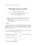 "Báo cáo nghiên cứu khoa học: ""Stability Radius of Linear Dynamic Equations with Constant Coefficients on Time Scales"""