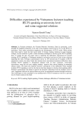 "Báo cáo nghiên cứu khoa học: ""Difficulties experienced by Vietnamese lecturers teaching IELTS speaking at university level and some suggested solutions"""