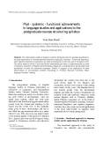 """Báo cáo nghiên cứu khoa học: """"Post - systemic - functional achievements in language studies and applications to the postgraduate courses structuring syllabus"""""""
