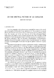 """Báo cáo toán học: """"On the spectral picture of an operator """""""