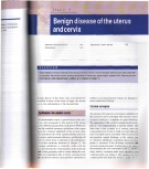 Benign disease of the uterus and cervix