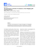 "Báo cáo sinh học: ""The therapeutic potential of modulators of the Hedgehog-Gli signaling pathway"""