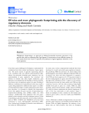 "Báo cáo sinh học: ""Of mice and men: phylogenetic footprinting aids the discovery of regulatory elements."""