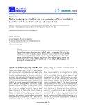 """Báo cáo sinh học: """"Making the jump: new insights into the mechanism of trans-translation"""""""