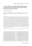 """Báo cáo lâm nghiệp: """"Processes of loss, recruitment, and increment in stands of a primeval character in selected areas of the Pieniny National Park (southern Poland"""""""
