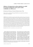"Báo cáo lâm nghiệp: "" Influence of temperatures and precipitation on radial increment of Orlické hory Mts. spruce stands at altitudes over 800 m a.s.l"""