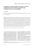 "Báo cáo lâm nghiệp: ""Contribution to the knowledge of Apodemus sylvaticus populations in forests of the managed landscape of southern Moravia (Czech Republic)"""