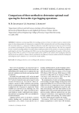 """Báo cáo lâm nghiệp: """" Comparison of three methods to determine optimal road spacing for forwarder-type logging operations"""""""