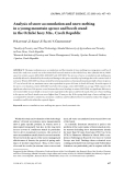 "Báo cáo lâm nghiệp: ""Analysis of snow accumulation and snow melting in a young mountain spruce and beech stand in the Orlické hory Mts., Czech Republic"""