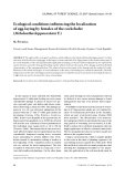 """Báo cáo lâm nghiệp: """"Ecological conditions influencing the localization of egg-laying by females of the cockchafer (Melolontha hippocastani F.)"""""""