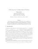 """Báo cáo toán học: """" A Recurrence for Counting Graphical Partitions"""""""