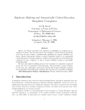 "Báo cáo toán học: "" Algebraic Shifting and Sequentially Cohen-Macaulay Simplicial Complexe"""