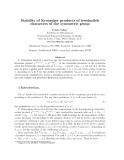 """Báo cáo toán học: """"Stability of Kronecker products of irreducible characters of the symmetric group"""""""