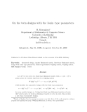 "Báo cáo toán học: ""On the twin designs with the Ionin–type parameters"""