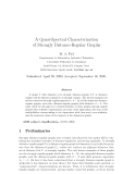 """Báo cáo toán học: """"A Quasi-Spectral Characterization of Strongly Distance-Regular Graphs"""""""