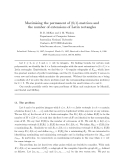 """Báo cáo toán học: """"Maximising the permanent of (0,1)-matrices and the number of extensions of Latin rectangles"""""""