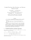 "Báo cáo toán học: "" Crooked Functions, Bent Functions, and Distance Regular Graphs"""