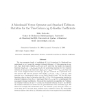 "Báo cáo toán học: "" A Macdonald Vertex Operator and Standard Tableaux Statistics for the Two-Column (q, t)-Kostka Coefficients"""