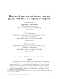"Báo cáo toán học: "" Hadamard matrices and strongly regular graphs with the 3-e.c. adjacency property"""