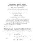 """Báo cáo toán học: """"Combinatorial Identities from the Spectral Theory of Quantum Graph"""""""