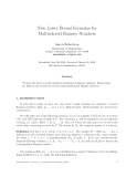 """Báo cáo toán học: """"New Lower Bound Formulas for Multicolored Ramsey Numbers"""""""