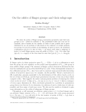 "Báo cáo toán học: ""On the orbits of Singer groups and their subgroups"""
