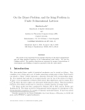 "Báo cáo toán học: ""On the Dimer Problem and the Ising Problem in Finite 3-dimensional Lattices"""