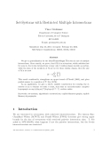 """Báo cáo toán học: """"Set-Systems with Restricted Multiple Intersections"""""""