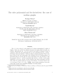 "Báo cáo toán học: ""The cube polynomial and its derivatives: the case of median graphs"""