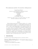"""Báo cáo toán học: """"The minimum number of monotone subsequences"""""""