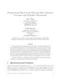 """Báo cáo toán học: """"Permutations Which Avoid 1243 and 2143, Continued Fractions, and Chebyshev Polynomials"""""""