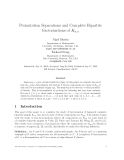 """Báo cáo toán học: """"Permutation Separations and Complete Bipartite Factorisations of Kn,n"""""""
