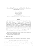 """Báo cáo toán học: """"Generalizing Narayana and Schr¨der Numbers o to Higher Dimensions"""""""