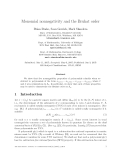"""Báo cáo toán học: """" Monomial nonnegativity and the Bruhat orde"""""""