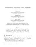 """Báo cáo toán học: """"New lower bound for multicolor Ramsey numbers for even cycle"""""""