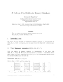 """Báo cáo toán học: """"A Note on Two Multicolor Ramsey Number"""""""