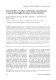 "Báo cáo lâm nghiệp: ""Moisture effect on carbon and nitrogen mineralization in topsoil of Changbai Mountain, Northeast China"""
