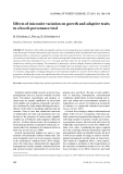 """Báo cáo lâm nghiệp: """"Effects of microsite variation on growth and adaptive traits in a beech provenance trial."""""""