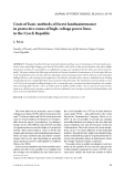 """Báo cáo lâm nghiệp: """"Costs of basic methods of forest landmaintenance in protective zones of high-voltage power lines in the Czech Republic"""""""
