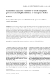 "Báo cáo lâm nghiệp: ""Assimilation apparatus variability of beech transplants grown in variable light conditions of blue spruce shelter O. Špulák"""