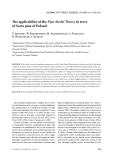 """Báo cáo lâm nghiệp: """" The applicability of the Pipe Model Theory in trees of Scots pine of Poland"""""""