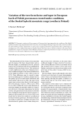 """Báo cáo lâm nghiệp: """"Variation of the tree form factor and taper in European larch of Polish provenances tested under conditions of the Beskid Sądecki mountain range (southern Poland)"""""""
