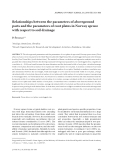 "Báo cáo lâm nghiệp: ""Relationships between the parameters of aboveground parts and the parameters of root plates in Norway spruce with respect to soil drainage"""